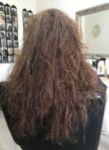 הורדת נפח ושיקום שיער - לפני הטיפול- ג'ולי מורד